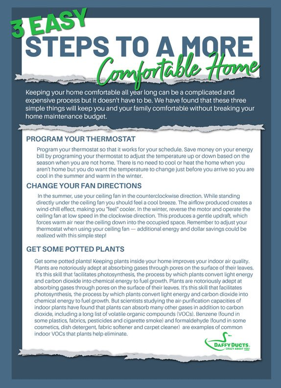 3 easy ways to a more comfortable home